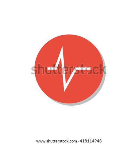 pulse icon, pulse symbol, pulse vector, pulse eps, pulse image, pulse logo, pulse flat, pulse art design, pulse red ring - stock vector