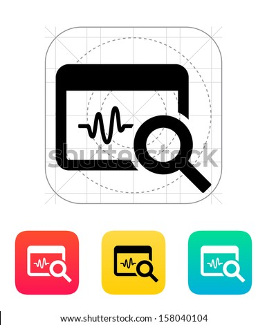 Pulse monitoring icon. Vector illustration. - stock vector