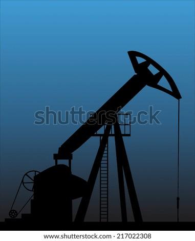 Pump Jack Oil Crane - stock vector