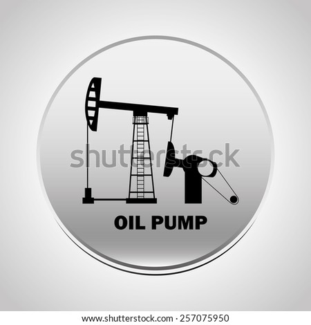pump oil design, vector illustration eps10 graphic  - stock vector