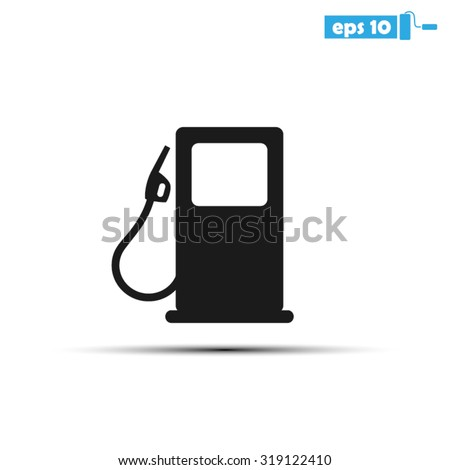 pump station fuel - stock vector