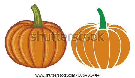 pumpkin - stock vector