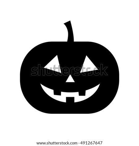 Pumpkin black and white halloween isolated