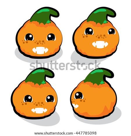 Pumpkin cartoon character,Kid theme, Character design - stock vector