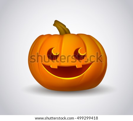 Pumpkin for the holiday Happy Halloween. Vector pumpkin.