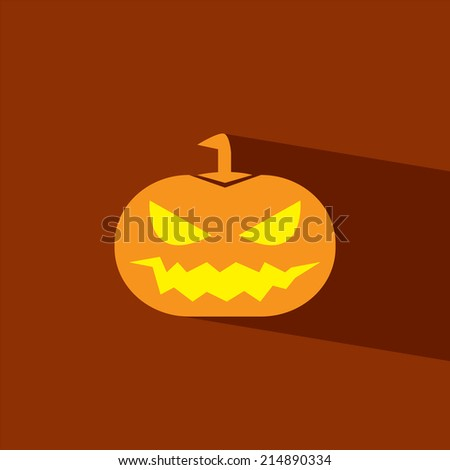 pumpkin halloween flat icon  vector illustration eps10