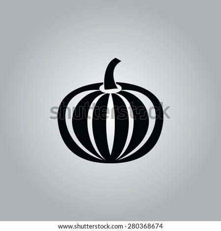 Pumpkin Icon.  - stock vector