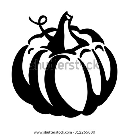 Pumpkin Icon isolated on white background  - stock vector