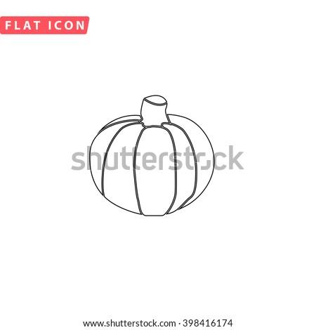 Pumpkin Icon Vector.  - stock vector