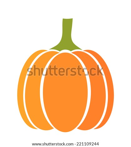 Pumpkin icon. Vector illustration - stock vector