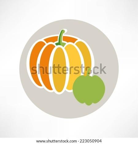 Pumpkin illustration isolated over white - stock vector