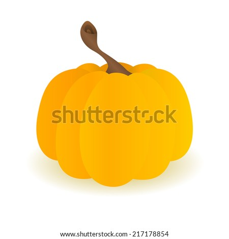 Pumpkin isolated on white background. Vector illustration.  - stock vector