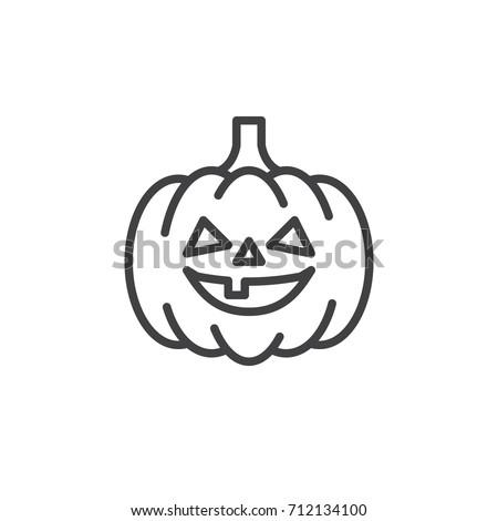 Pumpkin Line Icon Outline Vector Sign Stock Vector 712134100 ...