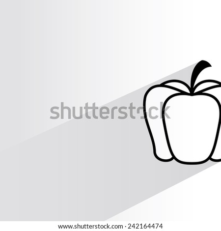pumpkin on white background, flat and shadow theme - stock vector