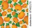 Pumpkin PATTERN - stock vector