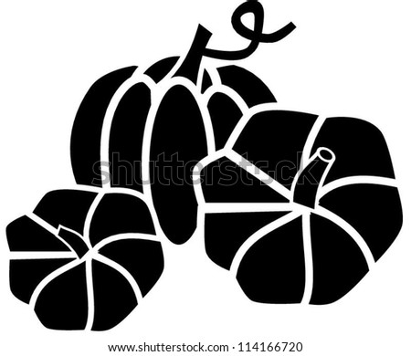 Pumpkin silhouette - stock vector