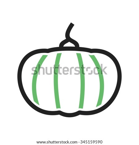 Pumpkin, vegetable, food icon vector image.Can also be used for food iconset. Suitable for mobile apps, web apps and print media.