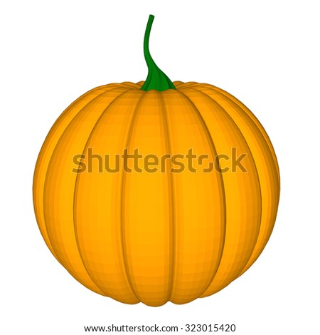 pumpkin with an evil expression on his face Vector 2 - stock vector