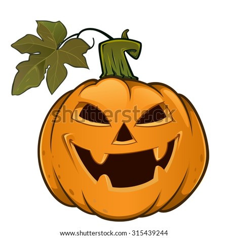 Pumpkin with evil face, this is used for Halloween
