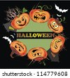Pumpkins for Halloween - stock vector