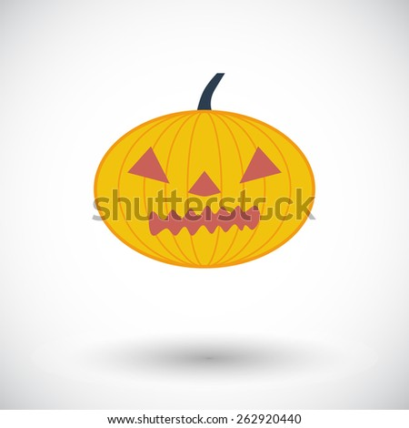 Pumpkins for Halloween. Single flat color icon. Vector illustration.