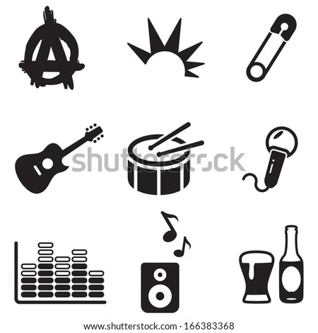 Punk Icons - stock vector