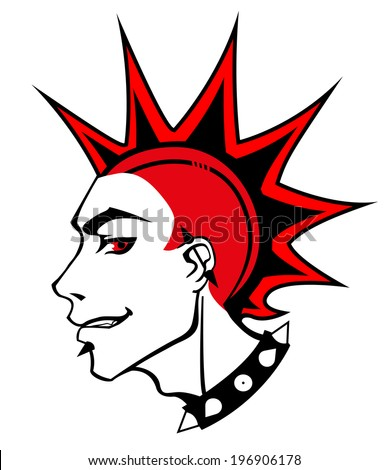 punk red boy