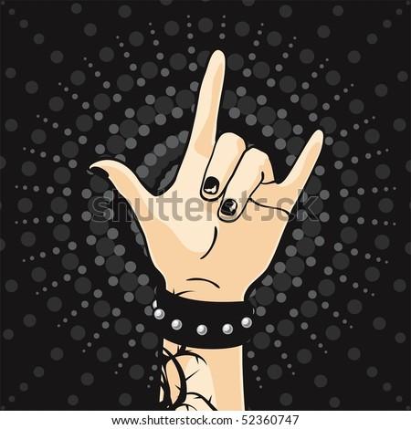 Punk Rock Kids - stock vector