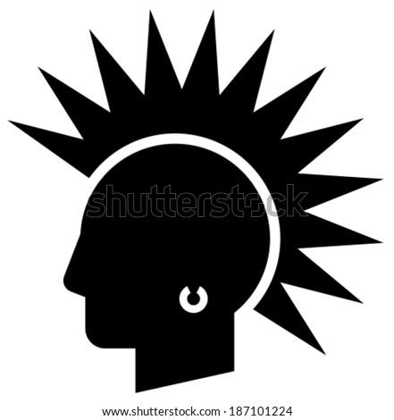 Punk vector icon - stock vector