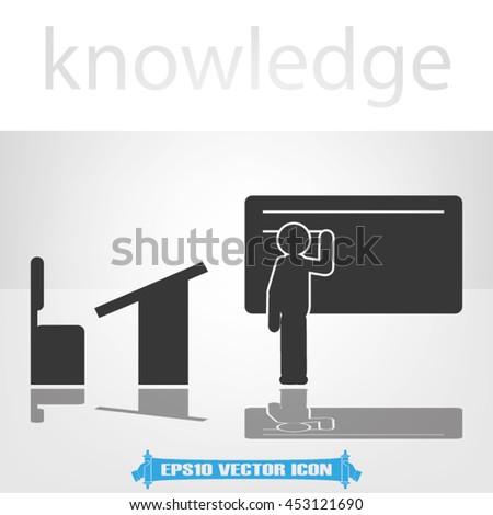 pupil chair and desk icon vector illustration EPS 10