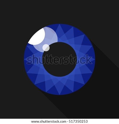 Pupil. Eye. Image for the logo. Indigo