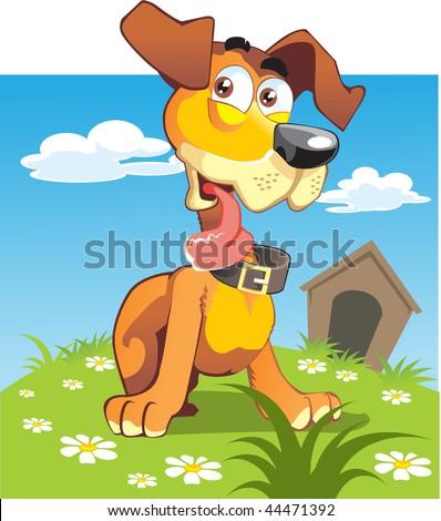 puppy bright - stock vector