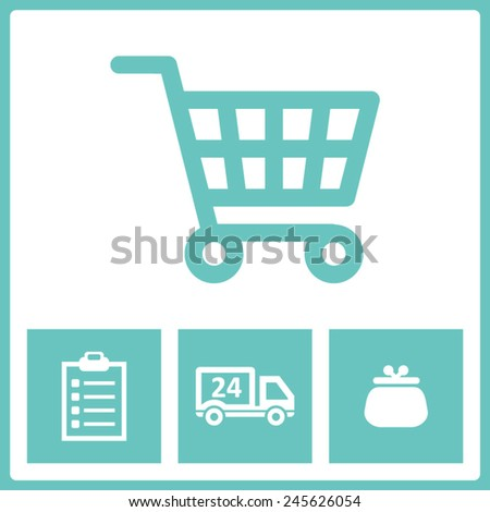 Purchase icons - stock vector