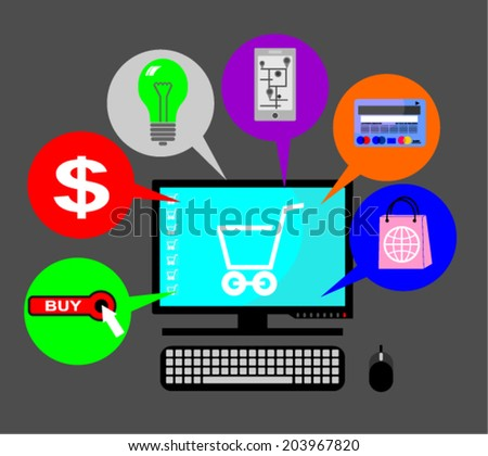 purchasing, concept - stock vector