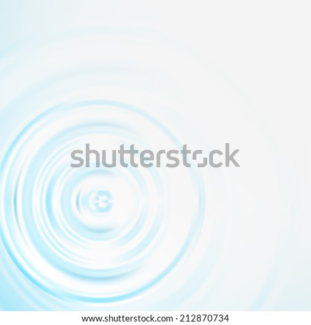 Pure elegant vector background with a concentric circles of water - stock vector