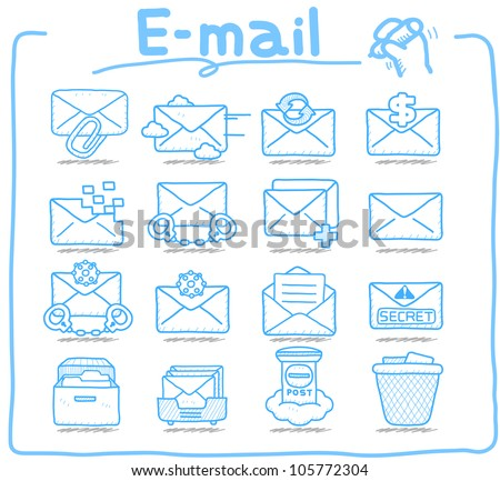 Pure Series | E-mail ,Business,Internet icon set - stock vector