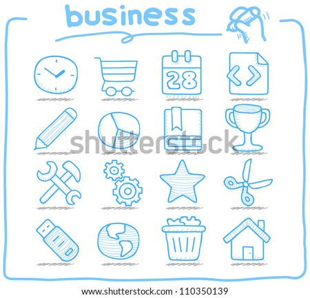 Pure Series | Hand drawn internet,business icon set
