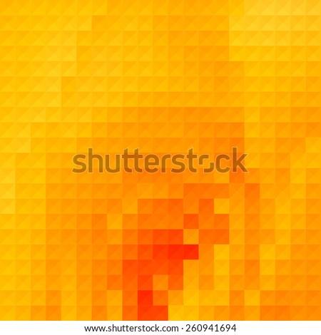 Pure yellow geometric background - stock vector