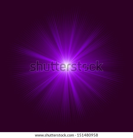 Purple abstract explosion. EPS 10 vector file included - stock vector