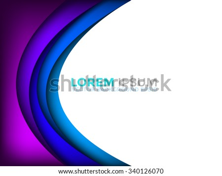 Purple and blue vector background gradient color with space for text and message background design - stock vector