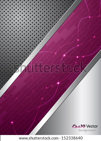 Purple and silver elegant abstract background - stock vector