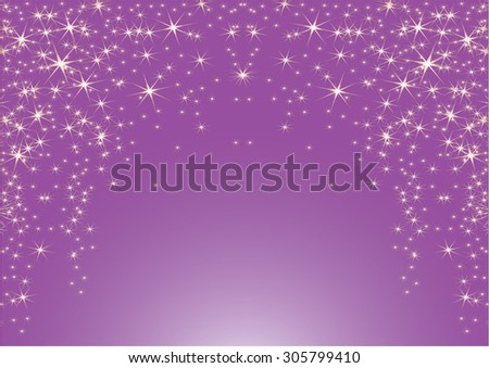 Purple background with stars. Vector