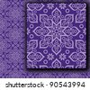 purple beautiful oriental (eastern) pattern - stock vector