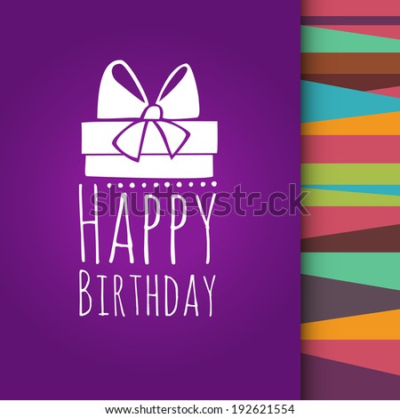 purple card with birthday