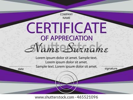 Purple certificate appreciation diploma horizontal winning stock purple certificate of appreciation diploma horizontal winning the competition reward award yelopaper Gallery