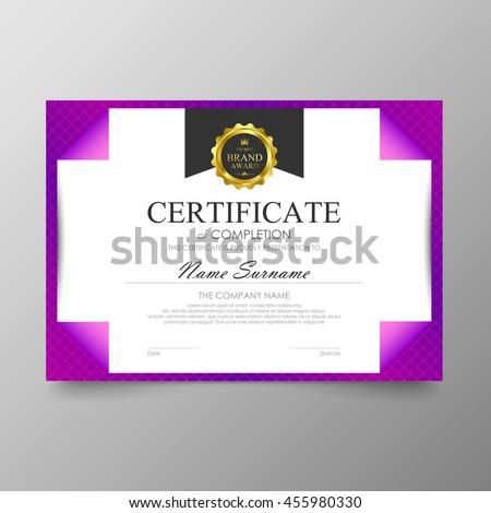 purple certificate template - certificate premium template awards diploma background