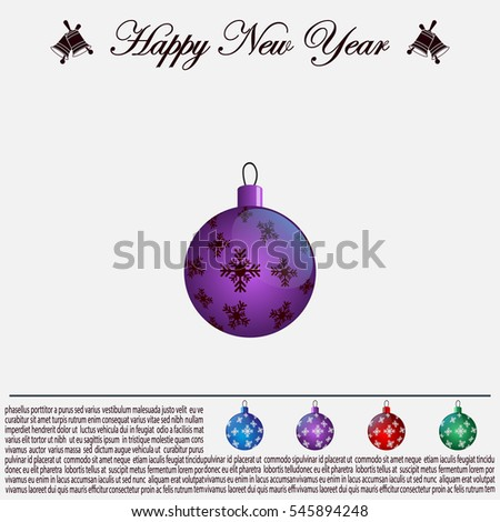Purple Christmas ball with snowflakes