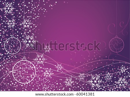 Purple Christmas decoration - stock vector