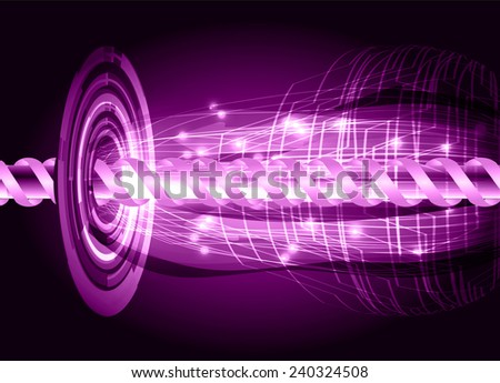 purple color abstract technology background for for computer graphic website internet and business - stock vector