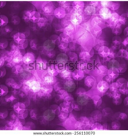 purple Defocused Light, Flickering Lights, Vector abstract festive background with bokeh defocused lights. - stock vector